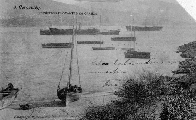 Pontones y barcazas vistas desde la vinha
