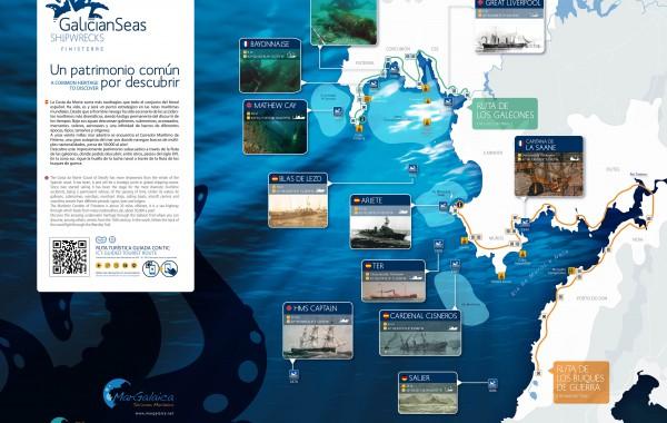 Galician Seas Shipwrecks Finisterre brochure
